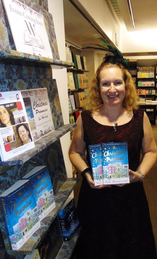 Here's a photo of Sue wearing Abigail's special creation at the book launch!